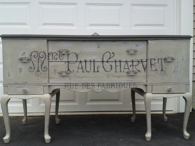 Items similar to SOLD...Vintage Buffet/Sideboard: Repurposed in French ...