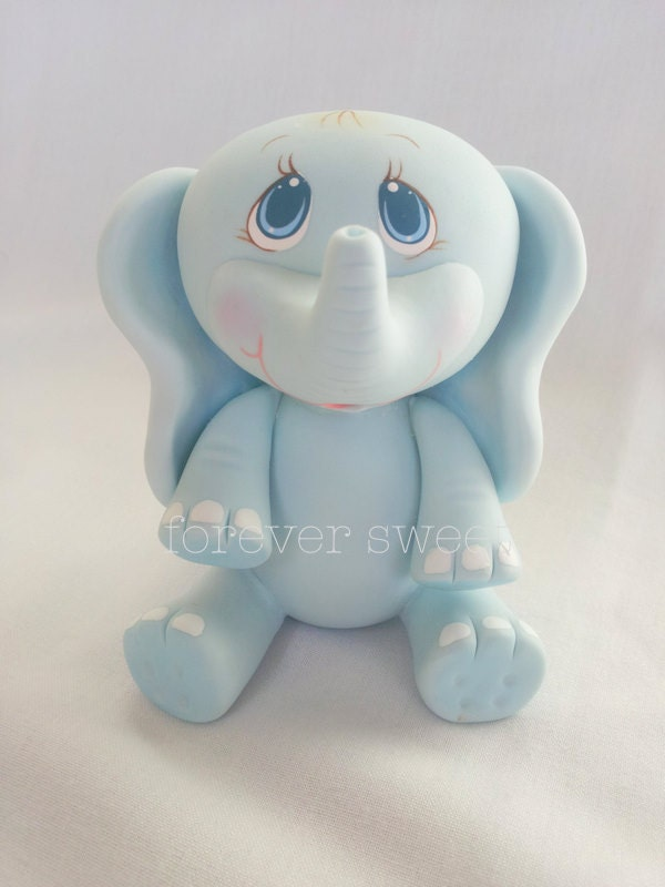 baby elephant cake topper baby shower party shower cake