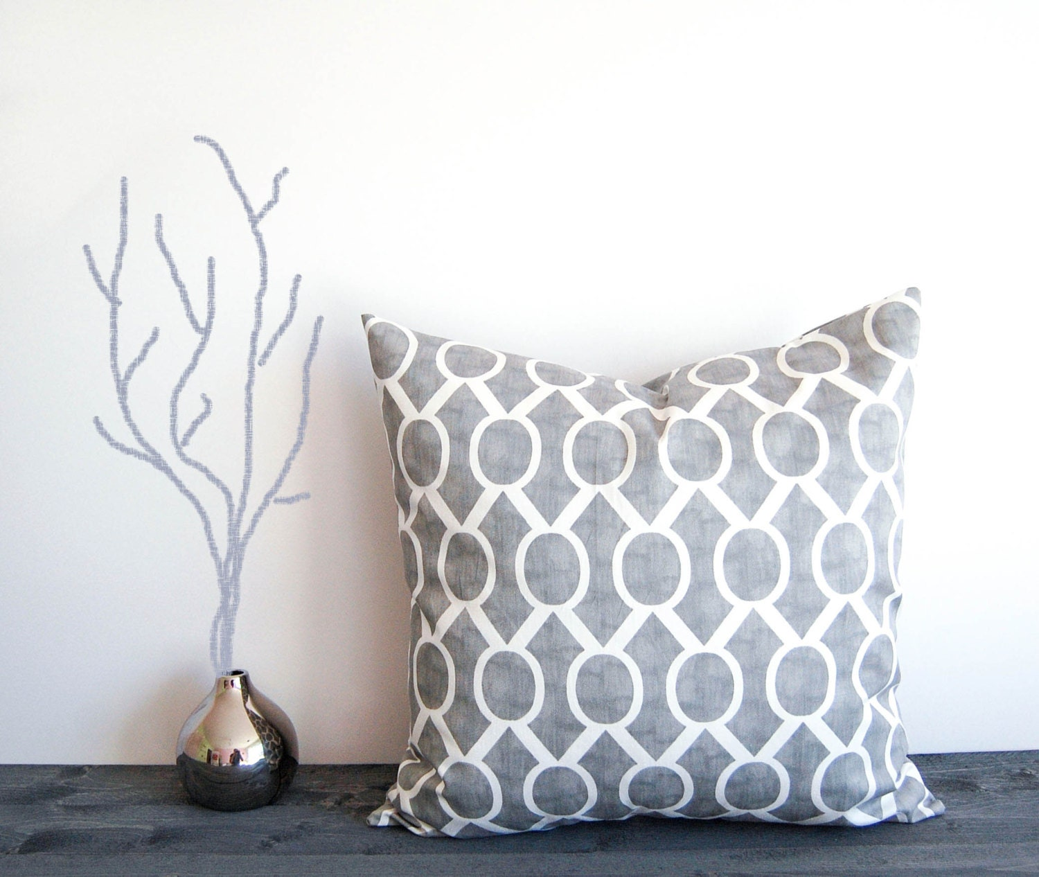 Throw Pillow Covers 20x20 : Gray throw pillow cover 20 x 20 One gray by ThePillowPeople