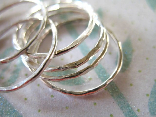 shop sale 1 ring 925 sterling silver stack rings by
