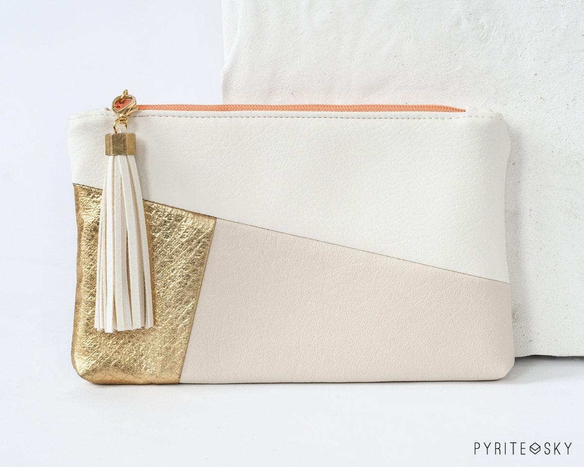 The Julia Clutch | Gold, White, Ivory - PYRITESKY