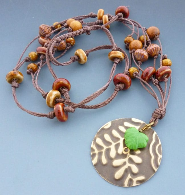 Falling Leaf Hand Knotted Necklace