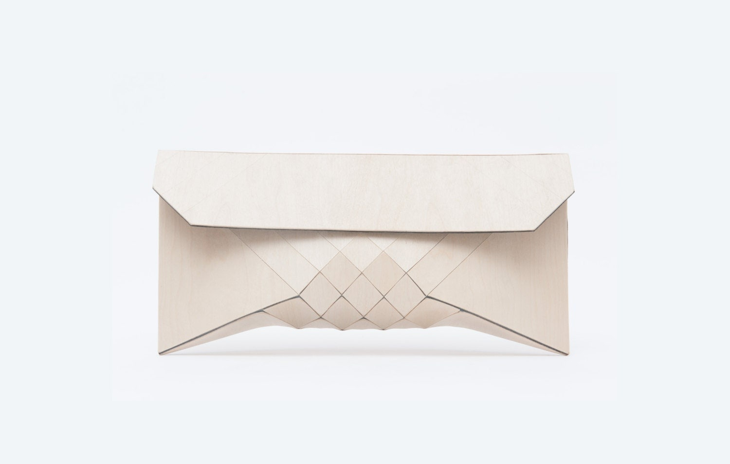 Wood Clutch // CREME - TeslerMendelovitch