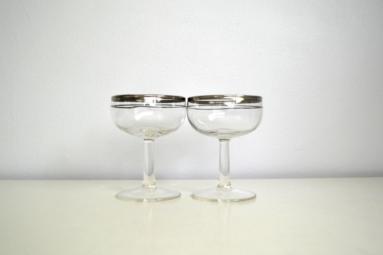 Metal Rimmed Drinking Glasses