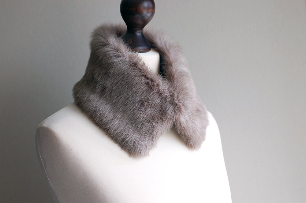 Grey fur collar - imali