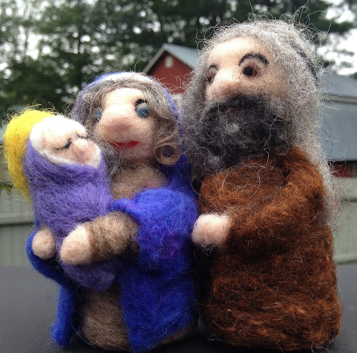 Needle Felted Nativity reserved for Frances Gilbert