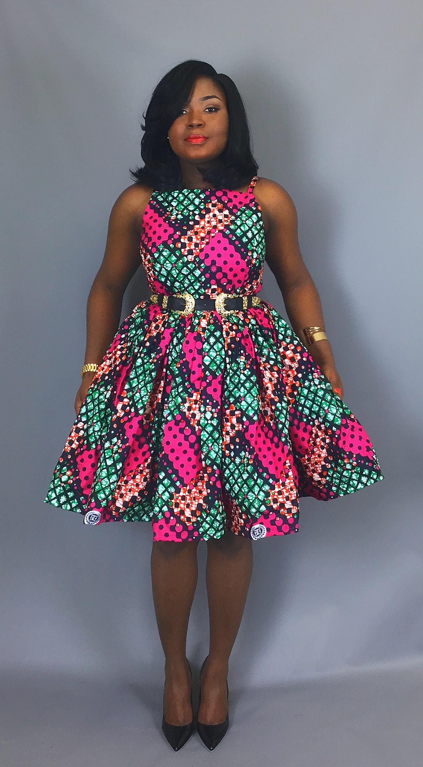 African print cocktail dressAfrican wax print dressesAnkara dressesAnkara fabricAfrican knee length dressAfrican dashiki dressrobewax