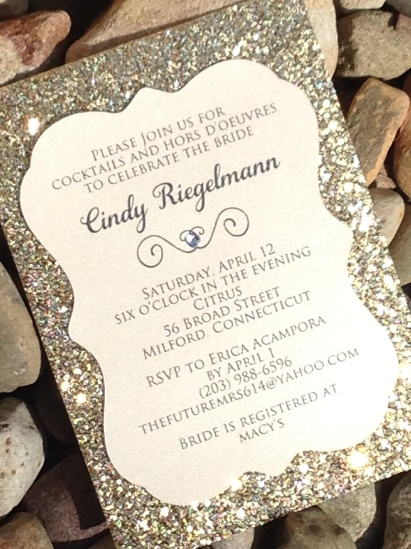 Glitter Wedding Invitations 25 Beautiful