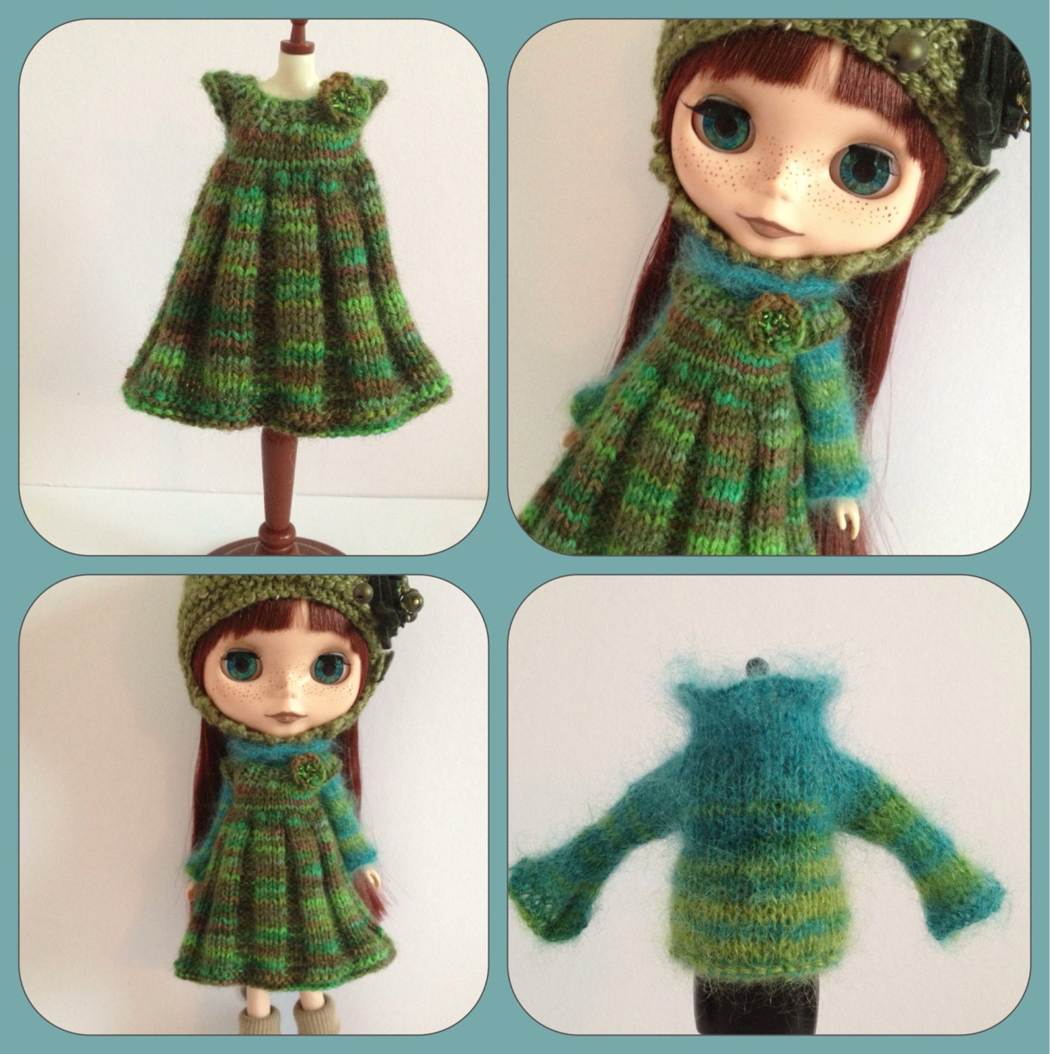 Blythe Knitting Patterns : PDF knitting pattern Cozy Comforts pleated pinafore and by polly