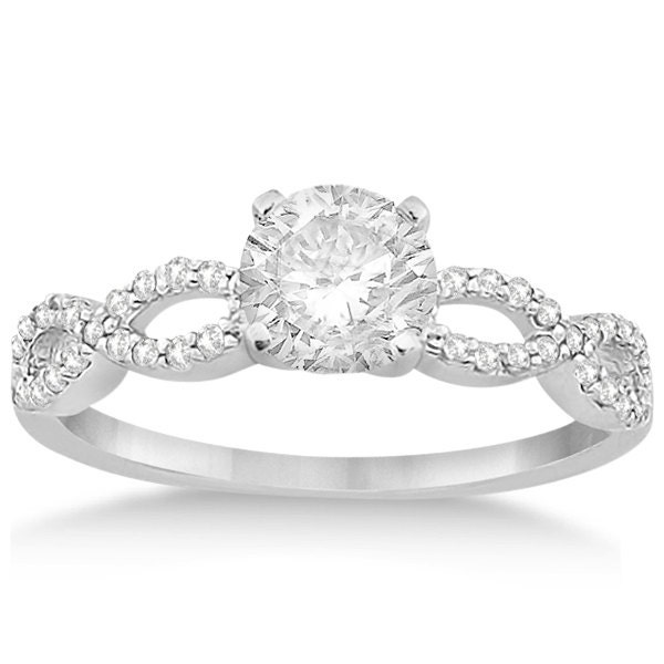 Twisted Infinity Diamond Engagement Ring Setting 18K By Allurez