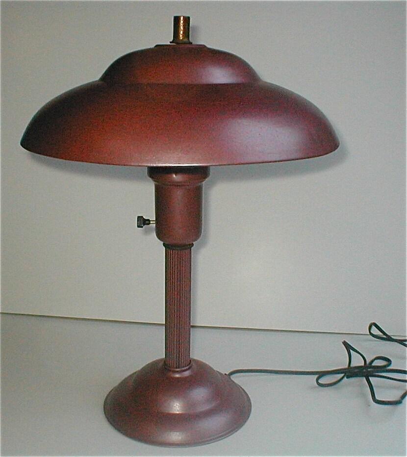 pink deco lamp metal desk lamp vintage by studiostebbylee. Black Bedroom Furniture Sets. Home Design Ideas