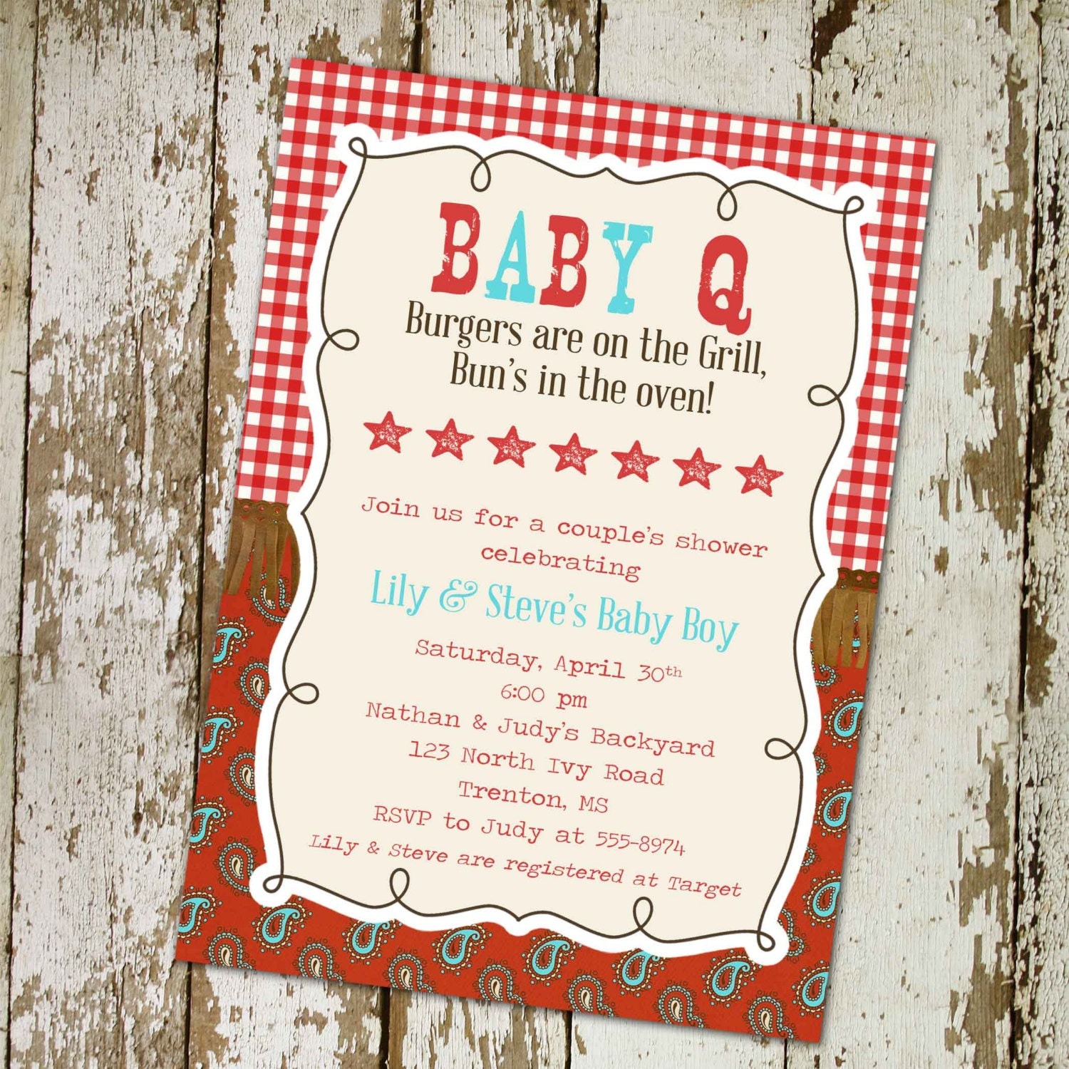 baby q baby boy shower invitation western style digital printable
