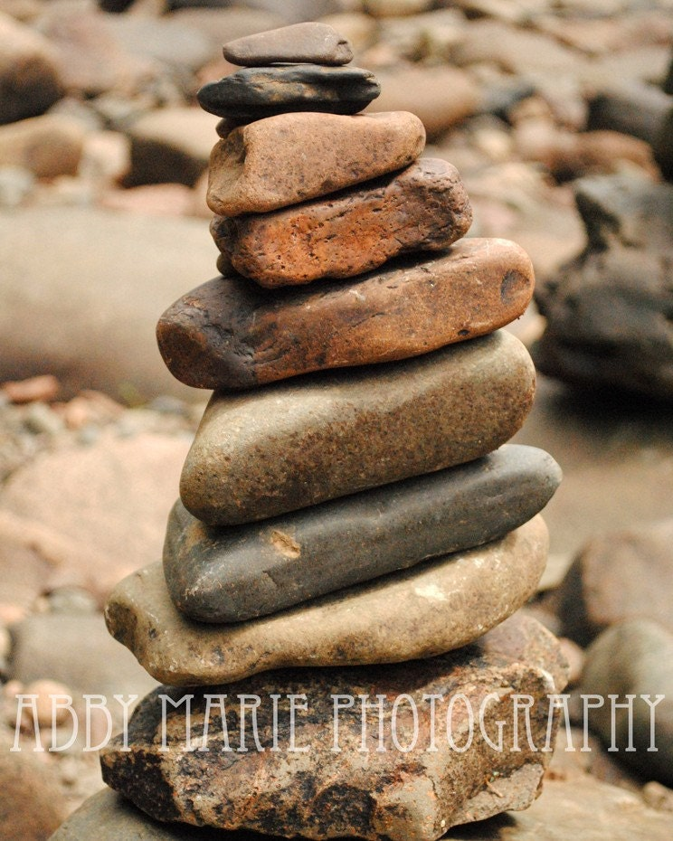 The Stacks 2 - 5x7 Fine Art Photography - Lake Superior Rock Stacking - Duluth Minnesota - Professional Photography - POE Member - AbbyMariePhotography