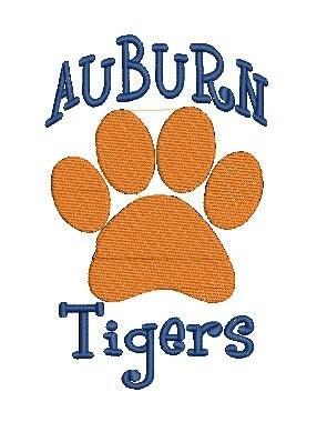 Auburn Tigers Embroidery Design