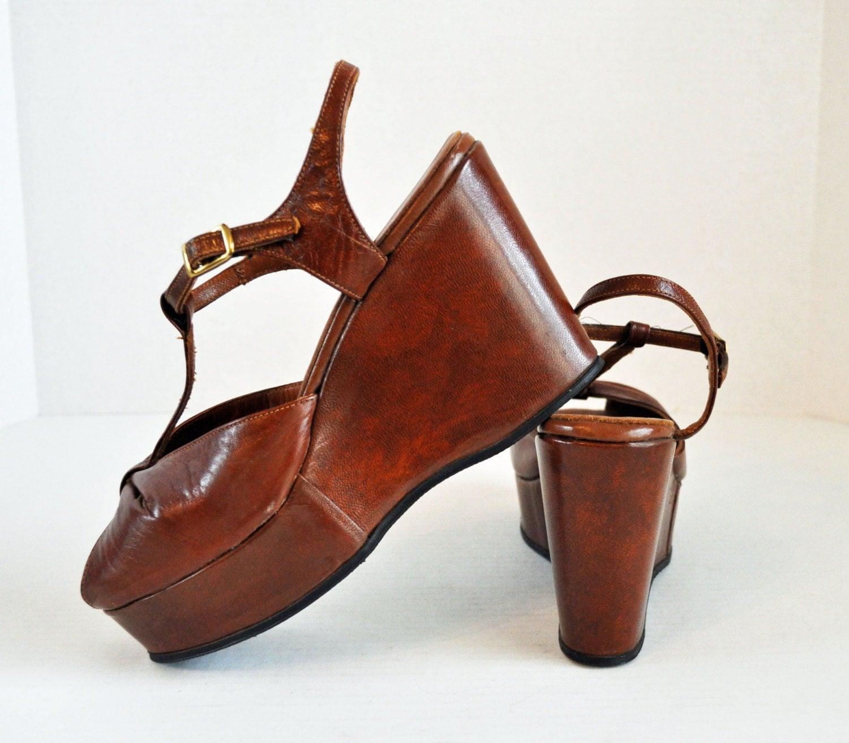 vintage 70s platform shoes sandals sbicca by