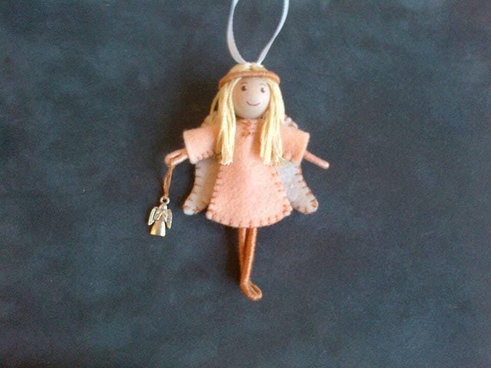 Guardian Angel Bendy Doll hanging decoration
