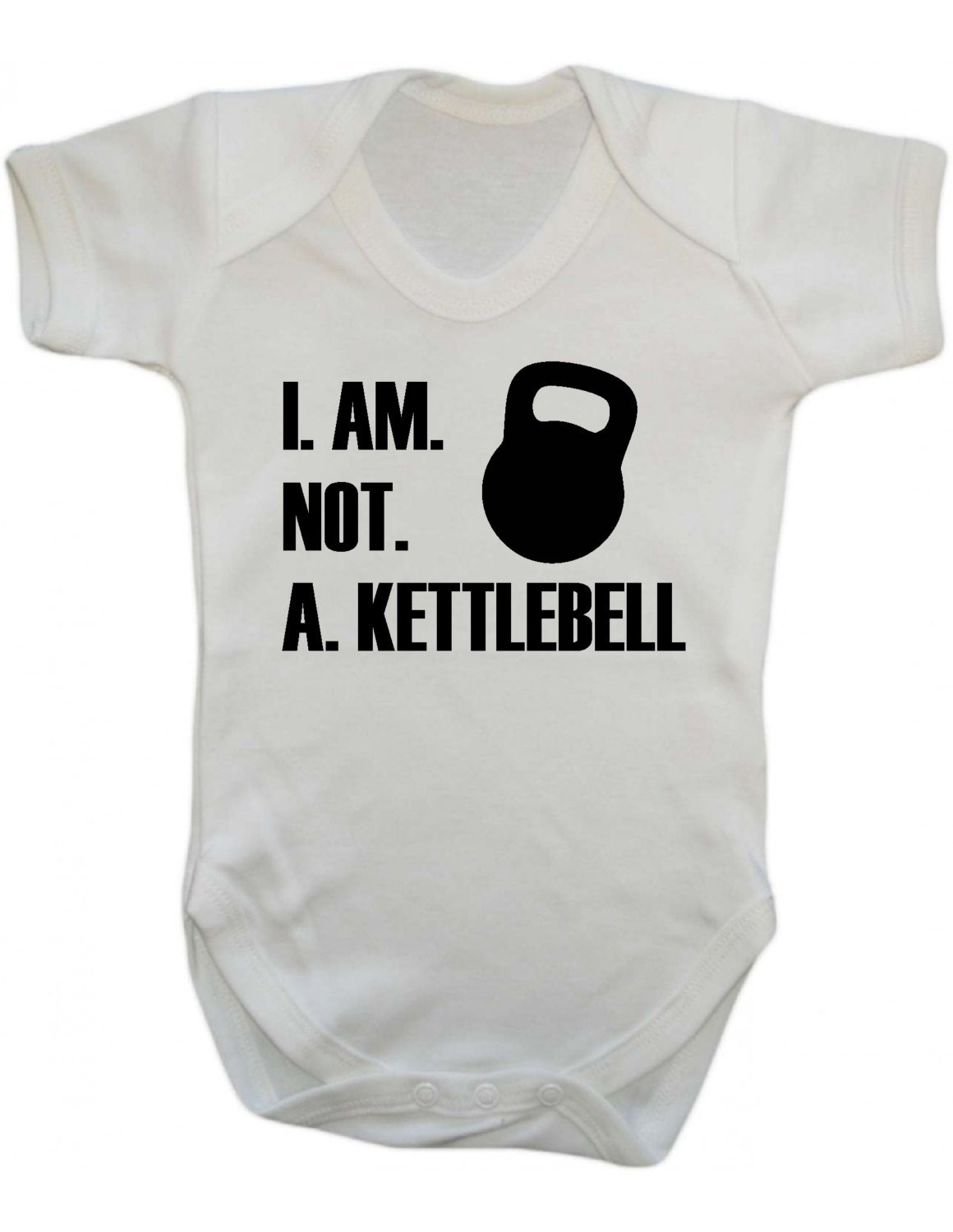 Kettlebell gym babygrow I am not a kettlebell   baby grow vest onsie
