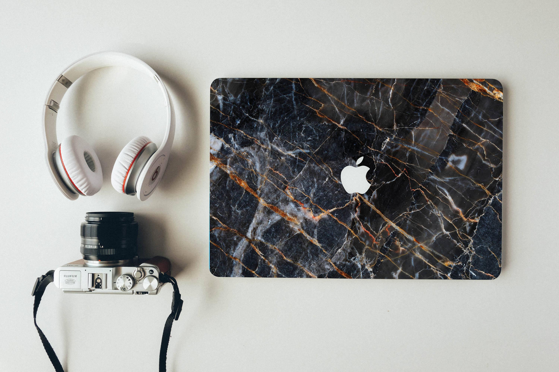 Macbook Decal Beautiful Black Marble Apple Laptop Stickers Mac Skin
