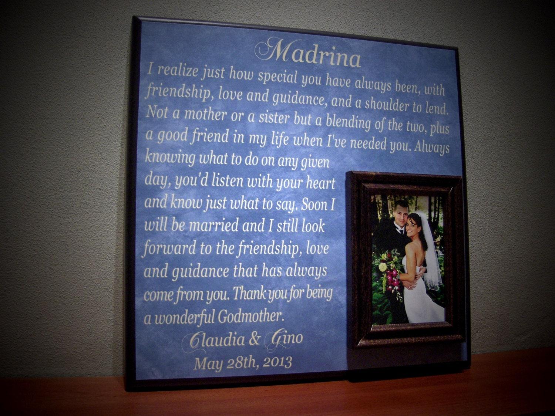 Custom Godparent Photo Frame Wedding Gift by YourPictureStory
