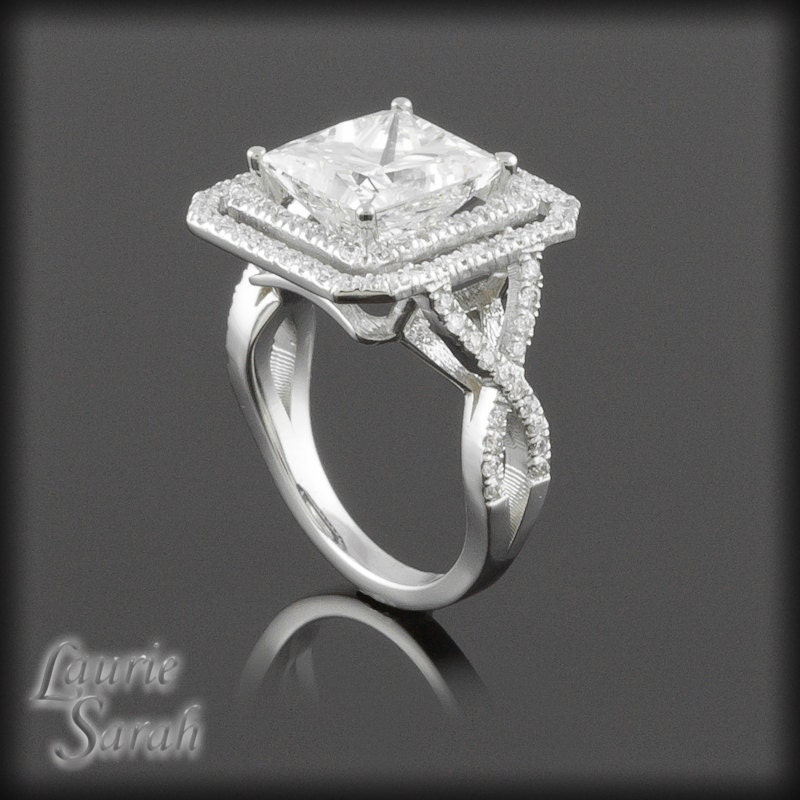 2 5 carat princess cut engagement by