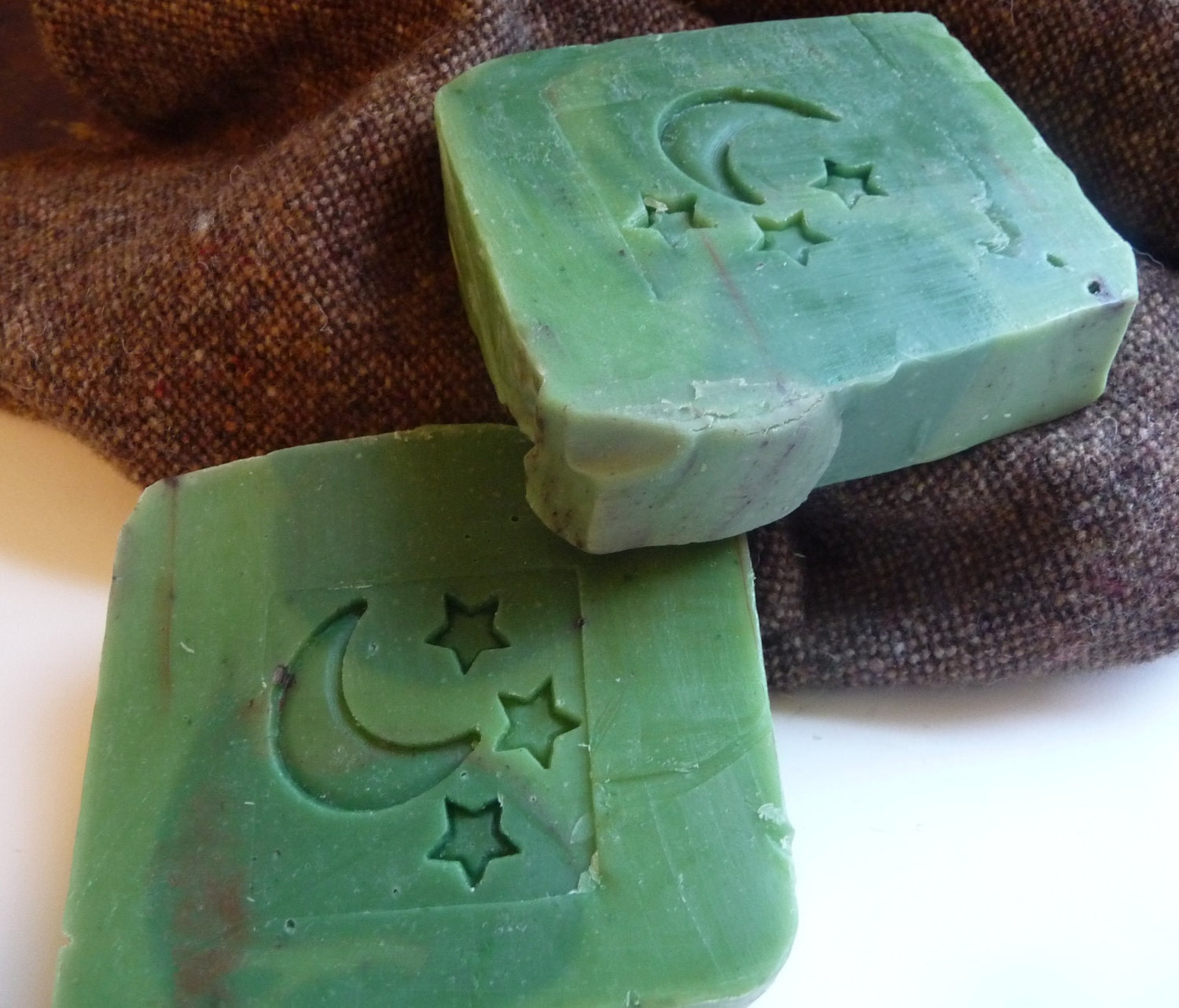 Green Cold Process Soap, Big Bar, Cool Mountain Air
