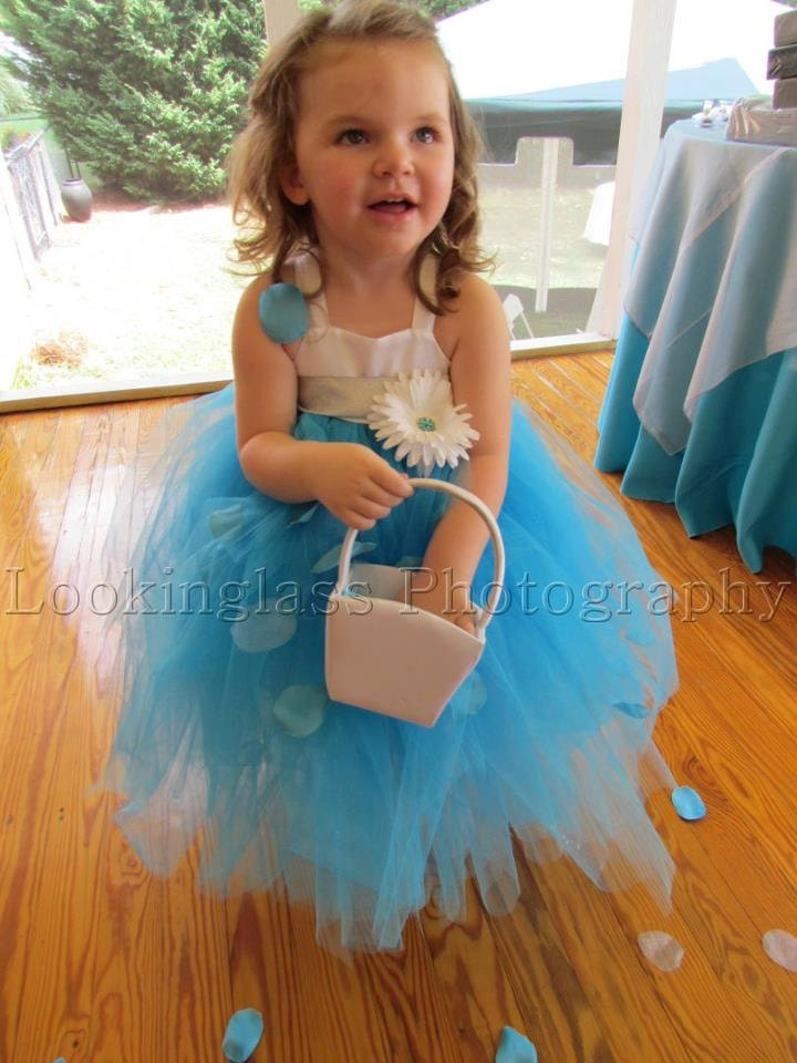 Flower Girl Dress. Wedding Tutu. Tiffany Blue. FALL SALE Size Newborn Baby Toddler Children