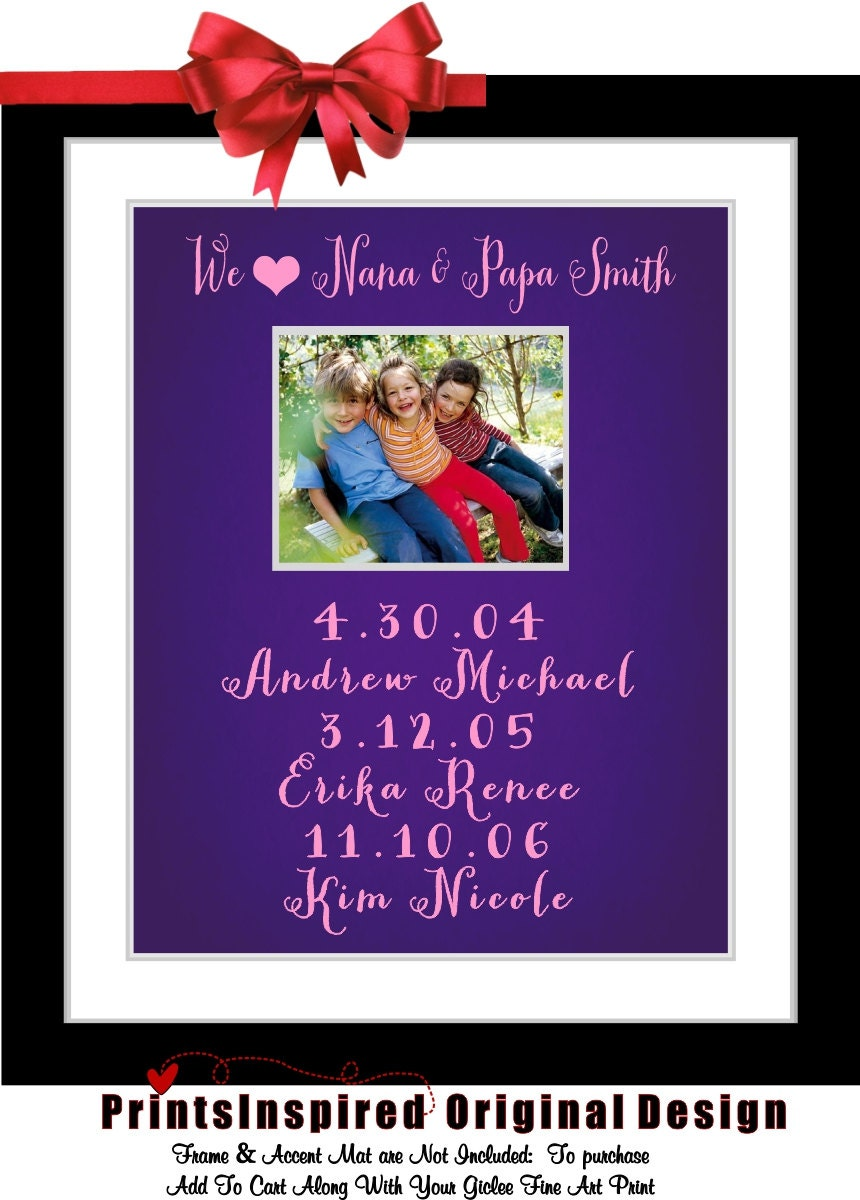 Personalized grandma gifts for mothers day gift by for Good birthday presents for grandma