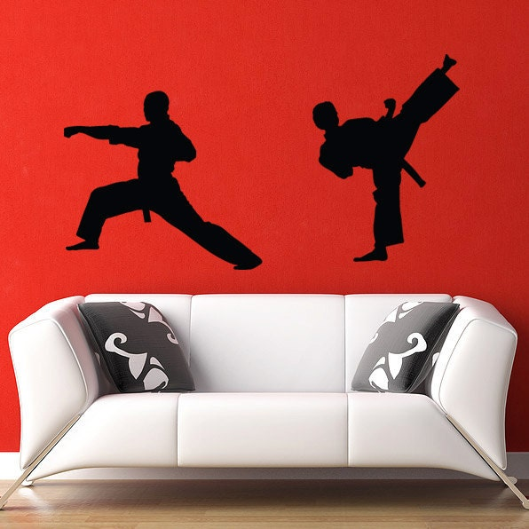 karate wall decal vinyl sticker kung fu martial by urbandecal