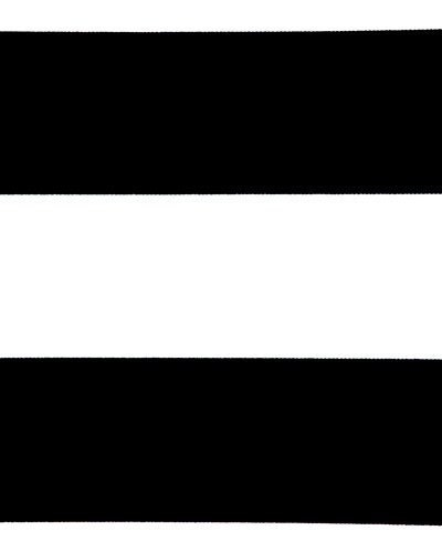 Black and white horizontal stripe shower curtain cotton fabric