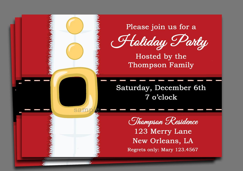 Items similar to Christmas Party Invitation Printable ...