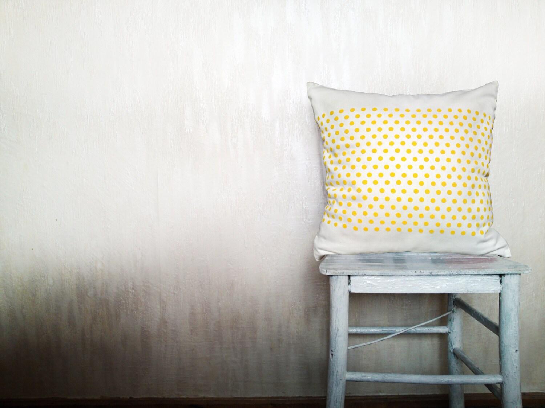 Polka dots throw pillow decorative throw pillows geometric pillow triangle pillow outdoor chevron pillow minimal decor 22x22 inches ohtteam - HomeLivingIdeas