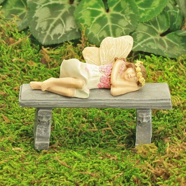 Sleeping Fairy Darcy Fairy Garden Figure Fairy Garden Accessory Miniature Garden