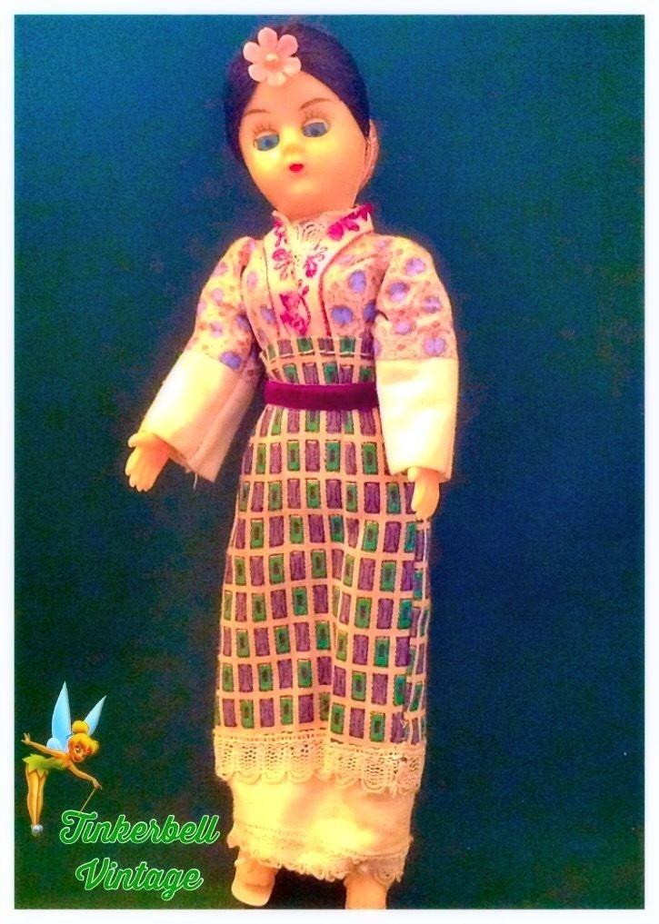 Vintage Japanese Geisha Collectible Doll. Rare. Collectible Doll. Collectors Doll. Vintage Gift.