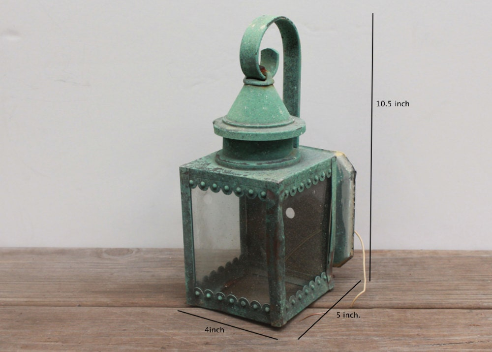 vintage shabby chic teal lantern light fixture by yourblankcanvas. Black Bedroom Furniture Sets. Home Design Ideas