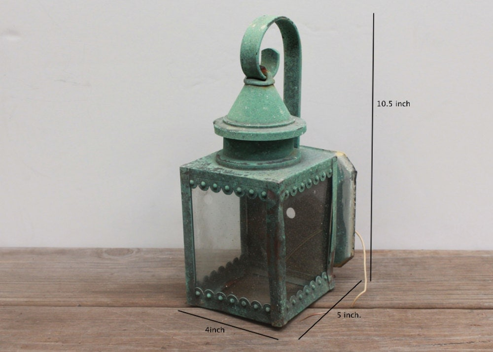 Vintage shabby chic teal lantern light fixture by - Shabby chic lighting fixtures ...