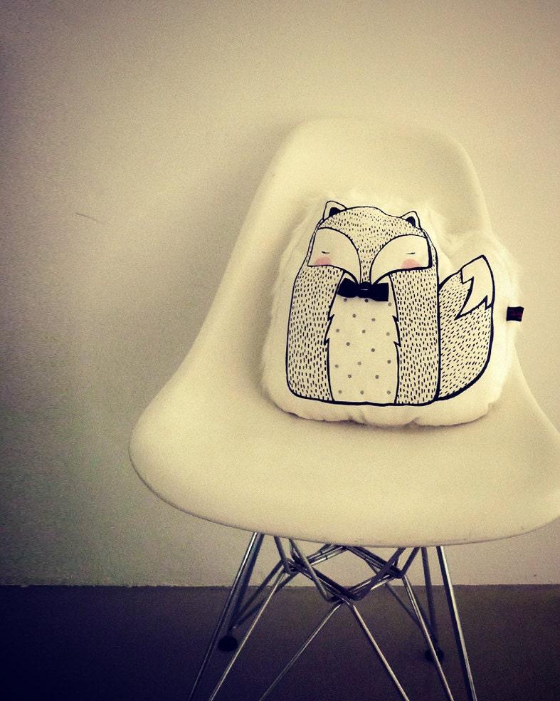 Winter Mr Fox Cushion - LIMITED EDITION