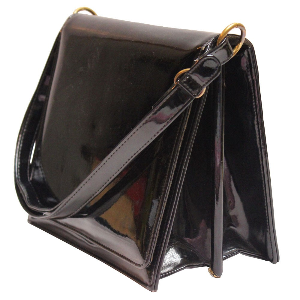 Black Patent Rayne Handbag