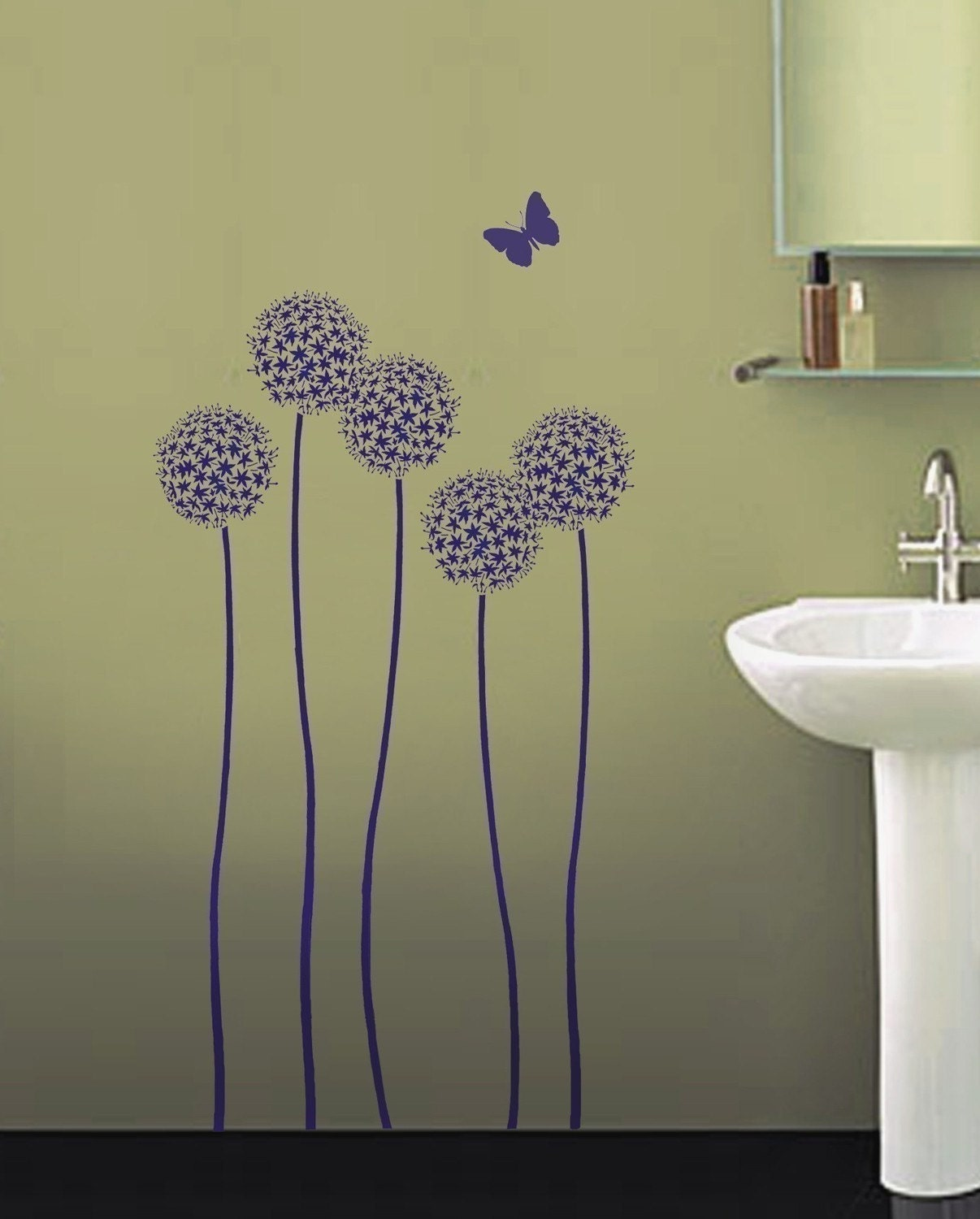 reusable wall stencil allium twins sturdy by. Black Bedroom Furniture Sets. Home Design Ideas