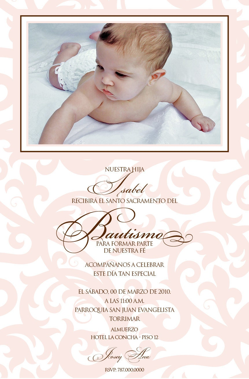 Baptism Invitations Girl as awesome invitation layout