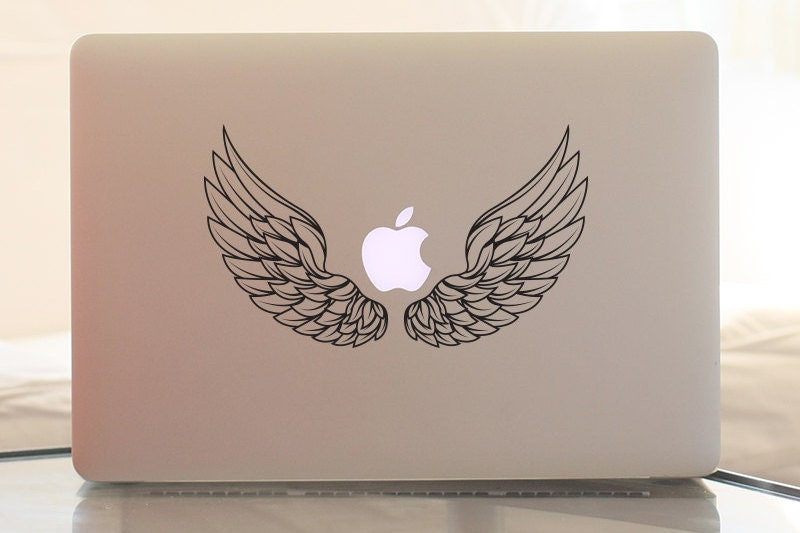 MacBook Sticker Angel wings Laptop sticker Vinyl sticker MacBook Pro sticker MacBook decoration MacBook accessories