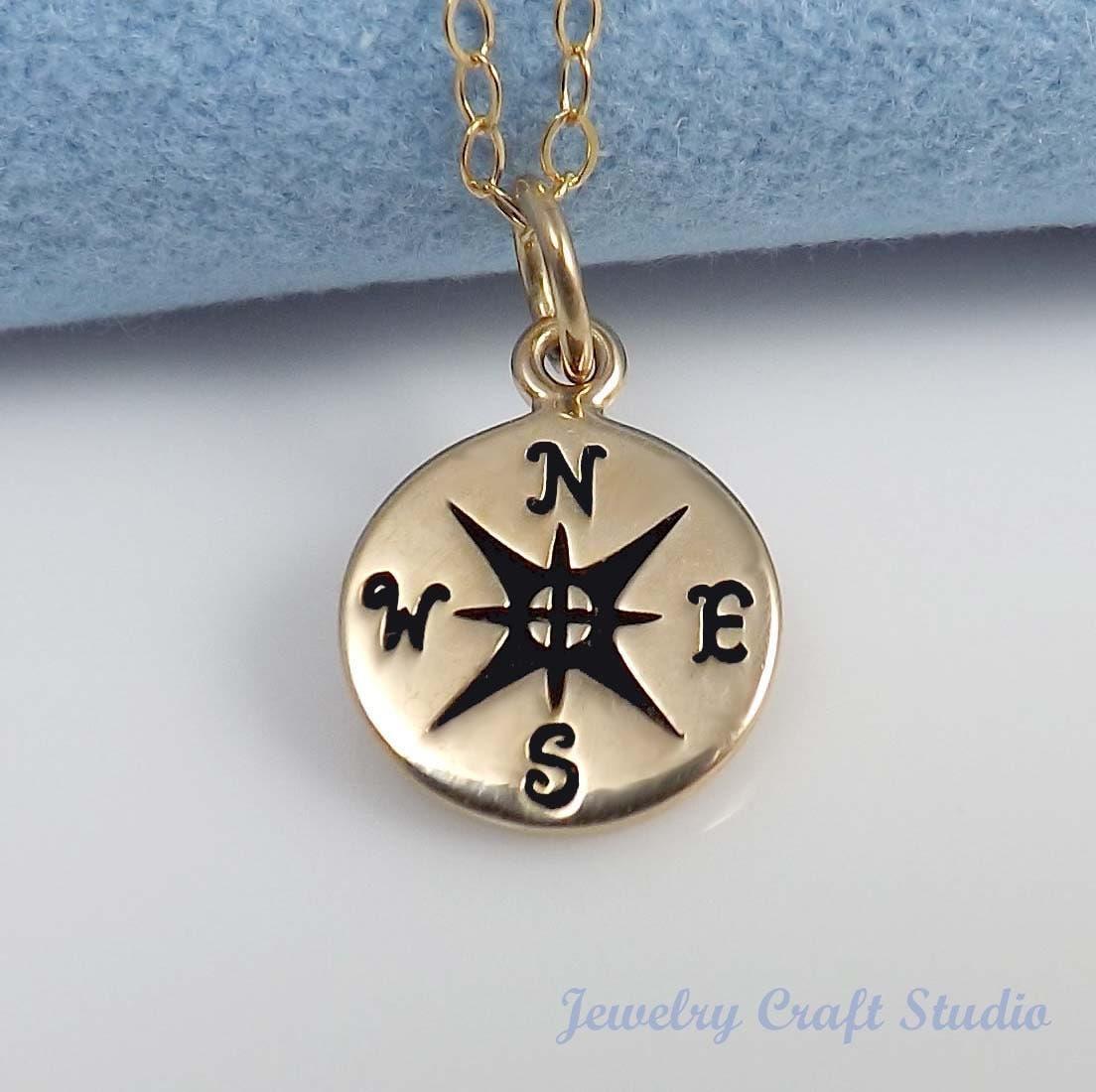 compass pendant necklace friendship pendant by