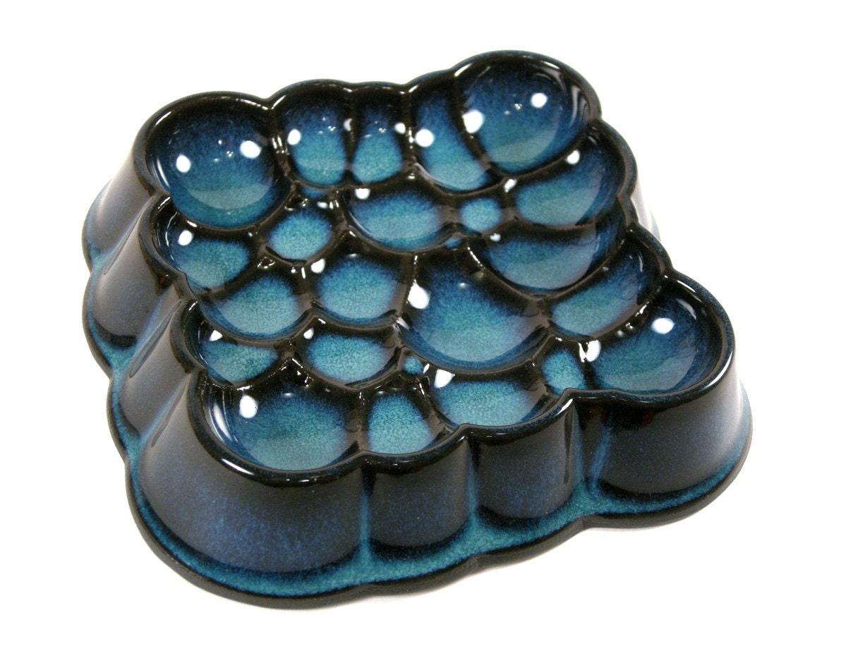 BLACK Porcelain Spheres TRAY DISH Modern Design by portrhombus