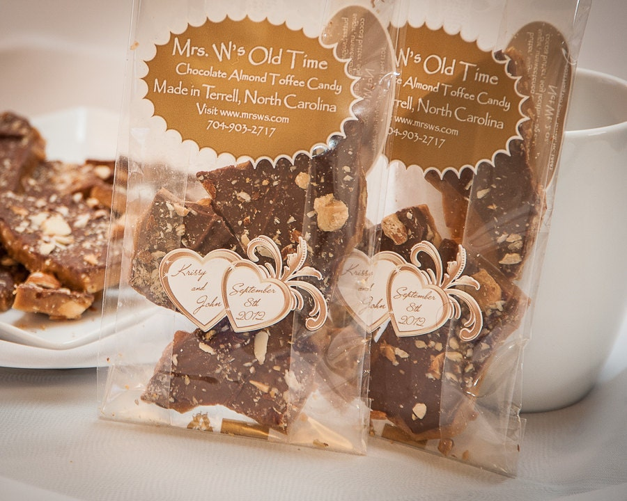 Wedding Toffee Candy, Milk Chocolate Almond