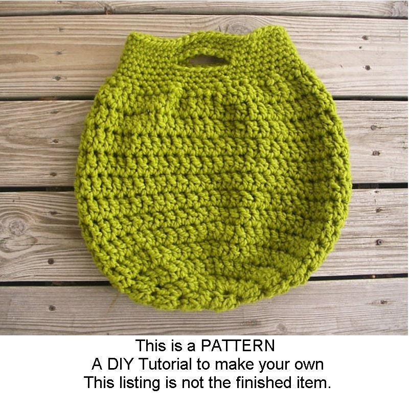 Instant Download Crochet Pattern PDF - Crochet Bag Pattern PDF for The ...