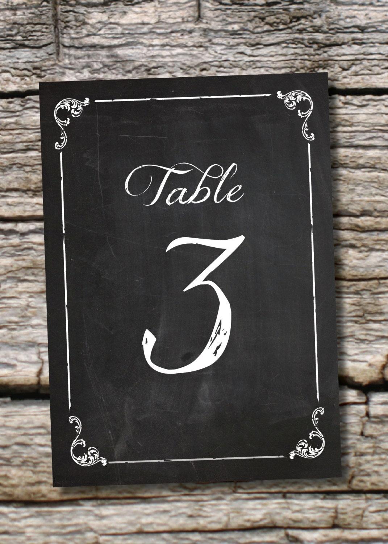 chalkboard table numbers ~ instant download vintage blackboard chalkboard table