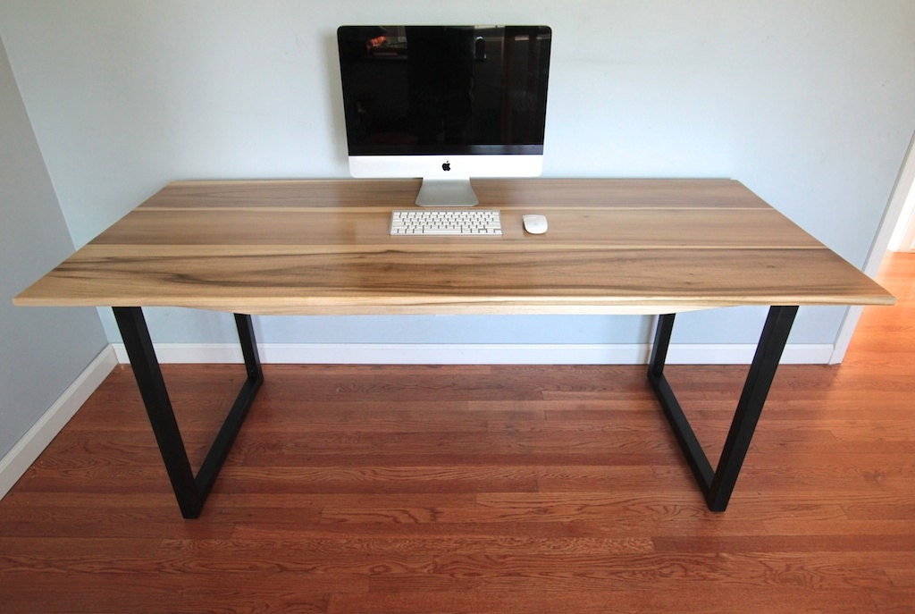 Minimalist Modern Industrial Office Desk or Dining Table // Sun Tanned ...