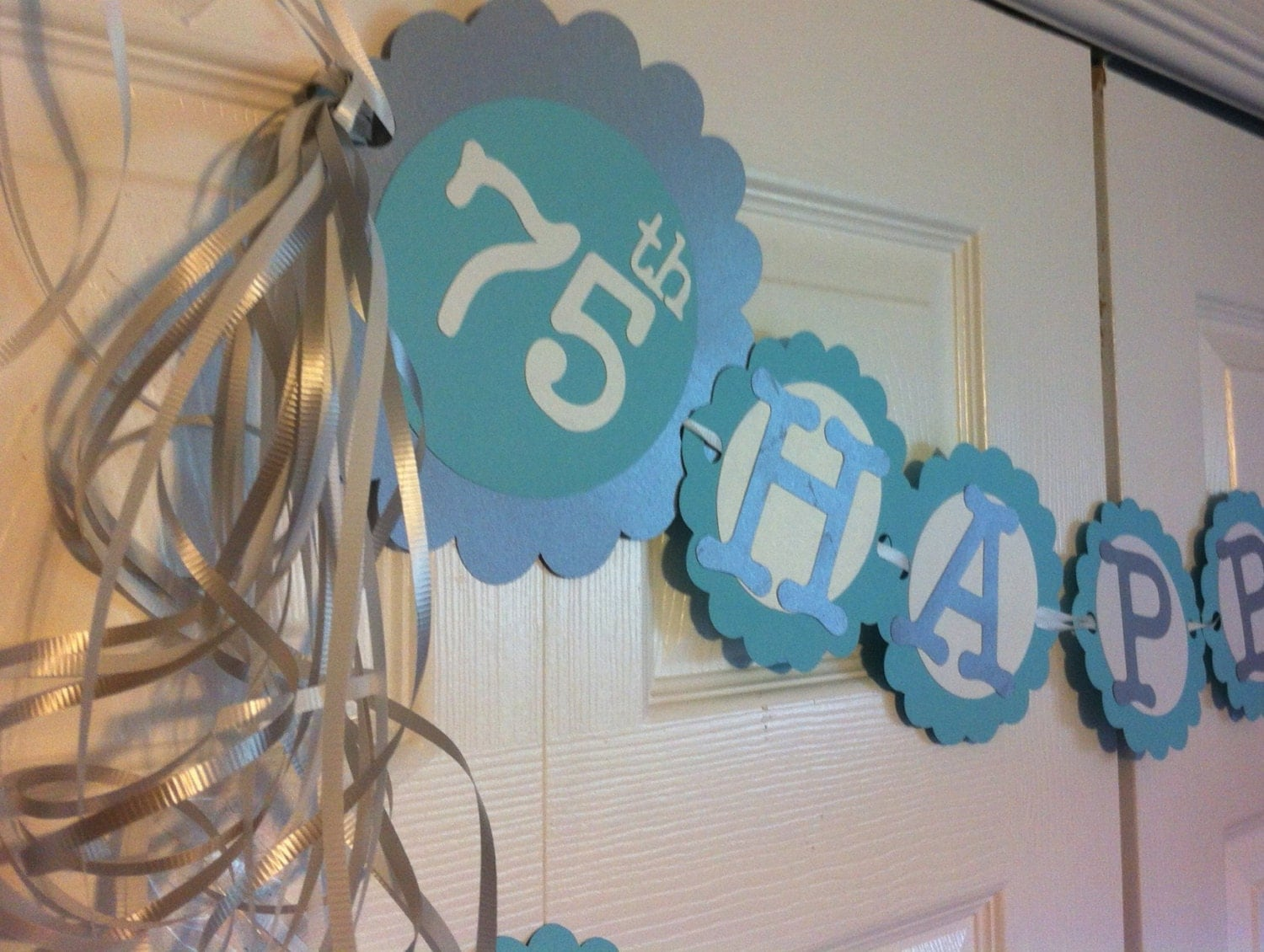 75th birthday decorations personalization available by