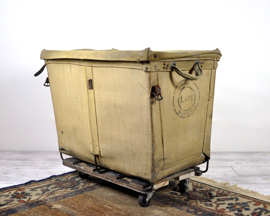 Vintage Industrial Laundry Cart Laundry Hamper By