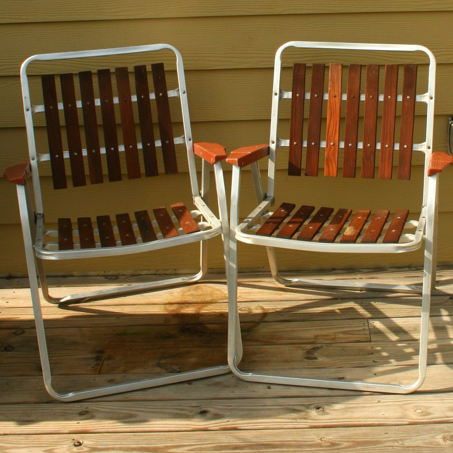 Vintage Folding Lawn Chairs Mid Century Modern