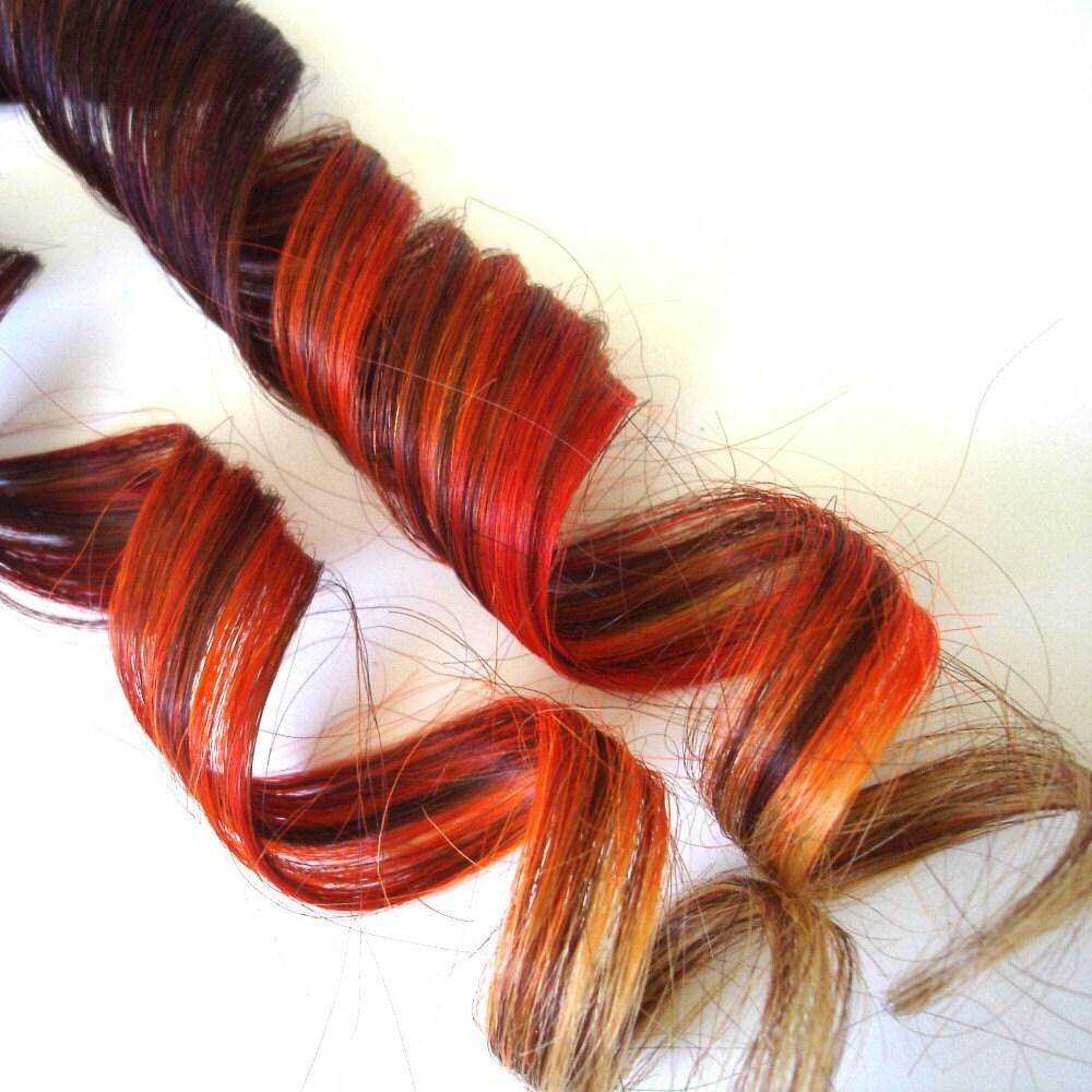 Hair Extensions - Autumn Leaves Ombre - Burgundy, Red, Orange, Auburn ...